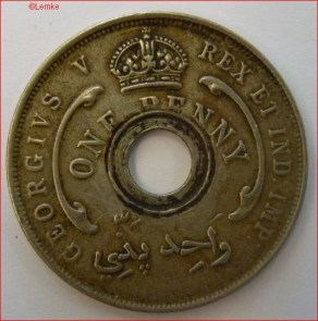 British West Africa KM 9 1920 voor